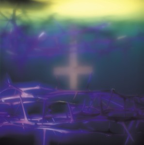 Dark blue cross