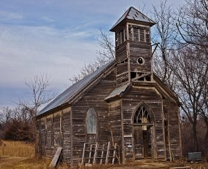 """Abandoned Church."" Edward Peterson"