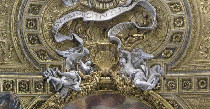 Ceiling (detail). Chiesa del Gesu (Rome)